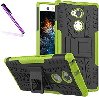 Sony Xperia L2 Case, Tyre Pattern Design Heavy Duty Tough Armor Extreme Protection Case with Kickstand Shock Absorbing Detachable 2 in 1 Case Cover for Sony Xperia L2 (2018).
