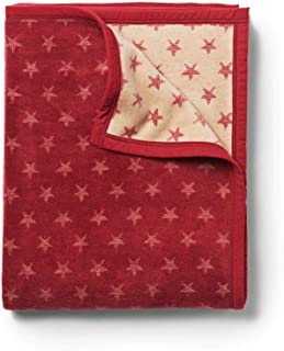 "ChappyWrap True North Red 60"" x 80"" Throw Blanket, Reversible Jacquard Woven Design, Natural Cotton Blend, Made in Germany, Lodge & Lake Designs"