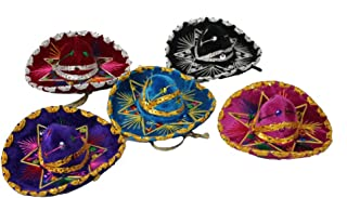 Oro Import 12 Mini Mexican Charro Hats Mariachi Sombreros Party Favors Decorations Set