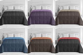 Energy Colors Textil - Hogar - Moscow - Edredón/Relleno Nórdico Reversible Máxima Calidad Transpirable 350 gr/m2 Microfibra Alta Densidad Invierno/Otoño (Rojo - Negro, Cama 90 y 105 (180_x_260_cm))