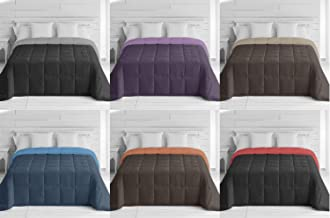 Energy Colors Textil - Hogar - Oslo - Edredón Nórdico Otoño Invierno Reversible 350 g Fibra Hueca Alta Densidad 240_x_260_cm(Cama 150) (Beige - Marrón)