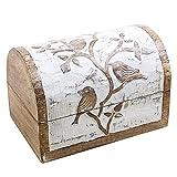 Store Indya, Boite de rangement en bois rustique Boite de rangement a...