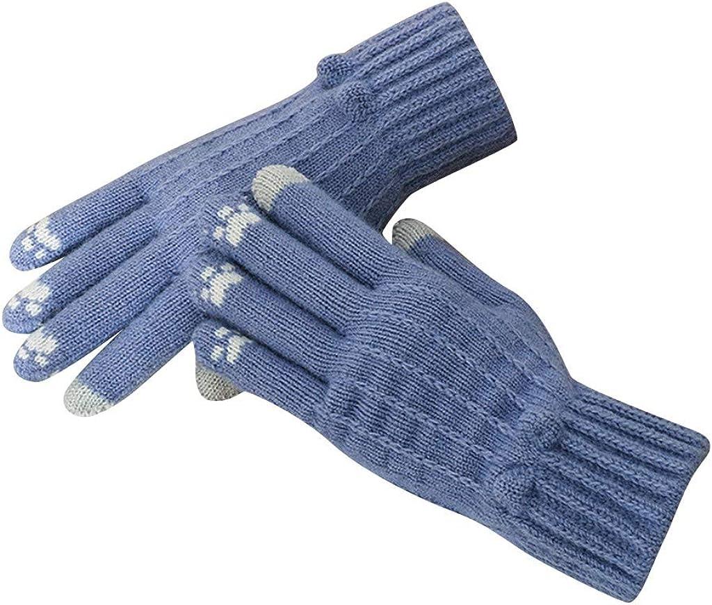 Uppada Women's Winter Screentouch Warm Gloves Extra-Warm Thickening Snow Soft Comfortable Gloves