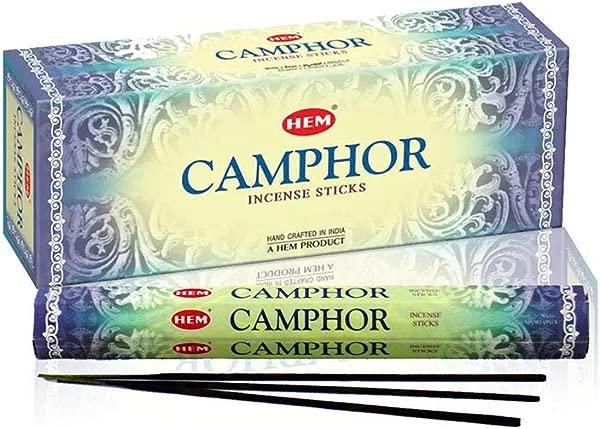 Camphor Box Of Six 20 Stick Tubes HEM Incense