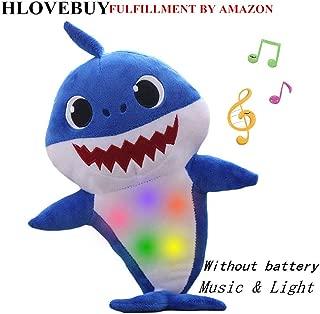 HLovebuy Baby Shark Official Singing Plush, Music Sound Baby Shark Plush Doll Soft Baby Cartoon Shark Stuffed & Plush Toys Singing English Song for Kids Gift Children Girl