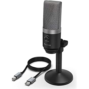 FIFINE USB Microphone, Microphone PC pour ordinateurs Mac et Windows, optimisé pour l'enregistrement, lecture en transit de Twitch, voix silence, podcasting pour YouTube, discussions sur Skype. (K670)