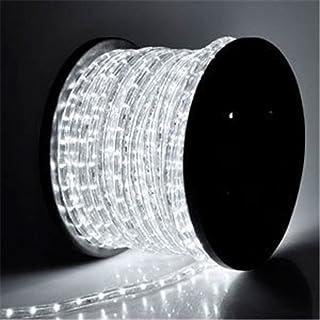 PYSICAL 110V 2-Wire Waterproof LED Rope Light Kit for Background Lighting,Decorative Lighting,Outdoor Decorative Lighting,Christmas Lighting,Trees,Bridges,Eaves (150ft, White)