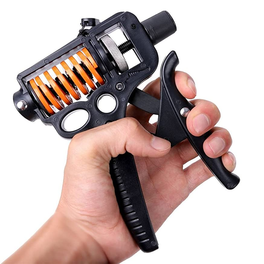 Oarea 10KG-50KG Hand Grip Strengthener Trainer Hand Power Exerciser Gripper Gym Power Fitness Hand Exercise Grip Adjustable Wrist Grip