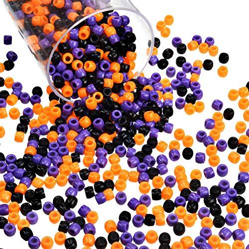1000 black pony beads - 9