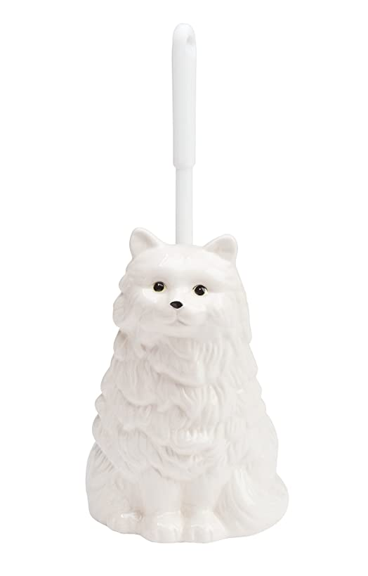 The Paragon Ceramic Cat Toilet Brush Holder - Whimsical Toilet Bowl Cleaner with Brush Included, Toilet Brush with Holder