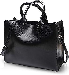 NICOLE&DORIS Women Tote Handbag Retro Crossbody Bag Ladies Shoulder Bag PU Leather Messenger Bag Tote Purse for School,Wor...