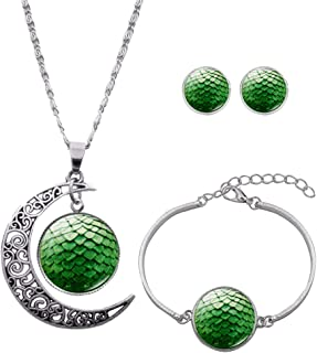 Cosplay_Rim Game of Thrones Dragon Egg Necklace Bracelet Earrings 3 Pieces of Suit Gift for Women