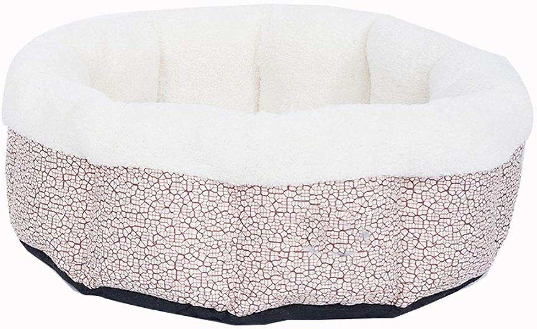 D_HOME Cotton Wool Pet Nest, Cat Litter, Pet Supplies, Winter, Warm, Kennel, Washable, House Villa,(Black, Red 60cm) (color   RED, Size   60CM)