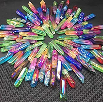 KuierShop TM  Large A Lot of Titanium Rainbow Aura Lemurian Quartz Crystal Point Healing 100g