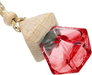 LEEDY - Ambientador colgante para el hogar o el coche difusor de fragancia botella de cristal vacía adornos colgantes d...