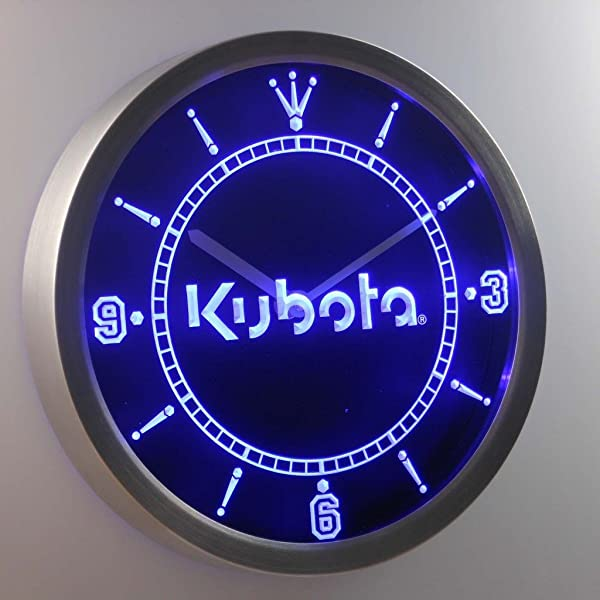 Kubota Tractor 3D Neon Sign LED Wall Clock NC0176 B