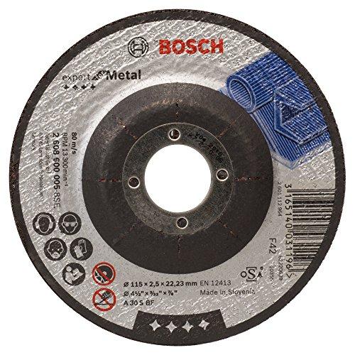 Bosch Professional 2608600005schneidedisk Winkelschleifer Zubehör–Zubehör für Winkelschleifer (Winkelstecker schneidedisk, Depressed Centre, Metall, Bosch Professional, 2,22cm, 11,5cm