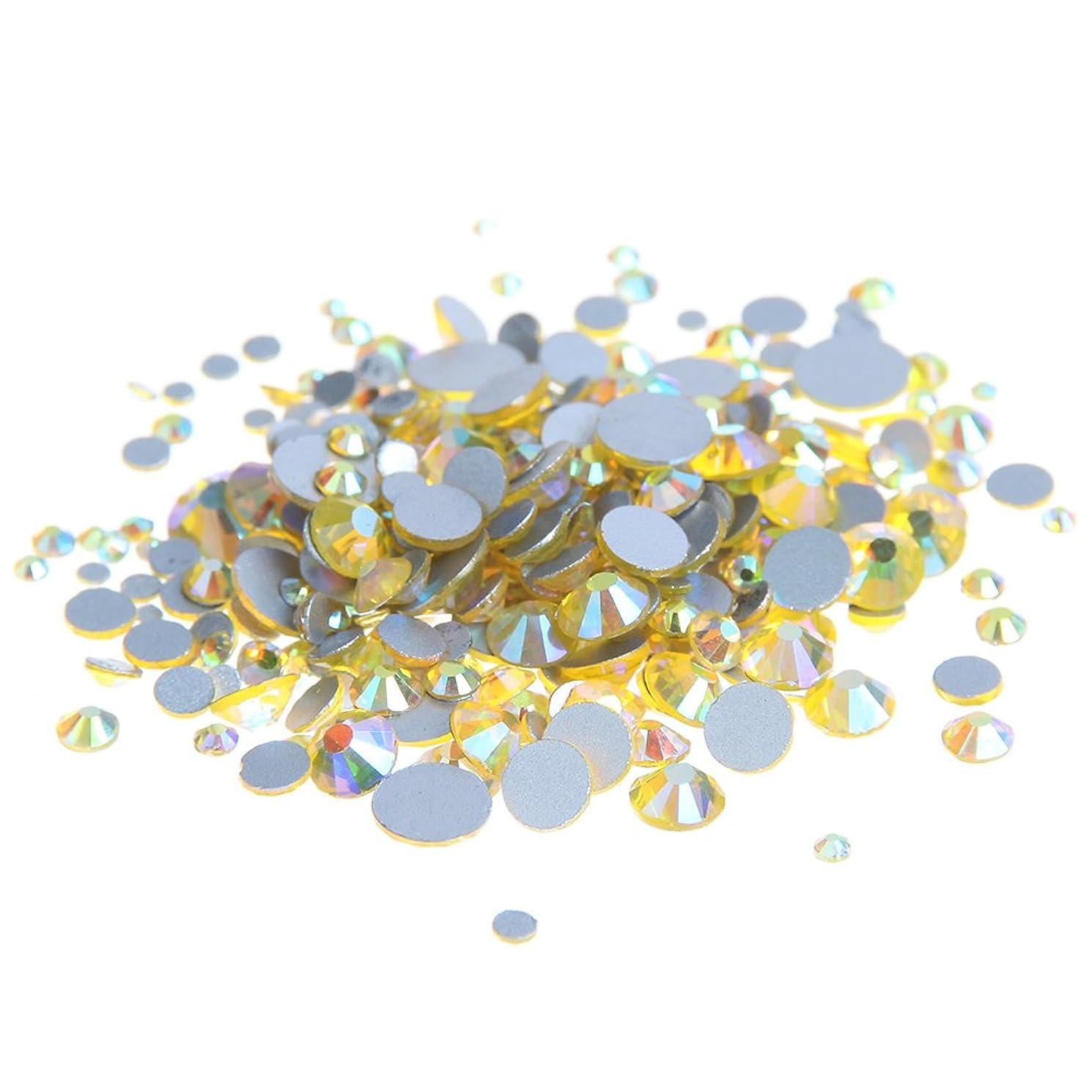 絶滅した世界的に自動Nizi ジュエリー ブランド シトリンオーロラ ラインストーン は ガラスの材質 ネイル使用 型番ss3-ss30 (混合サイズ 1000pcs)