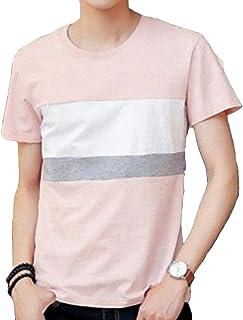 [ SmaidsxSmile(スマイズ スマイル) ] Tシャツ トップス カットソー 半袖 ライン ボーダー ロゴ 丸首 襟 配色 メンズ