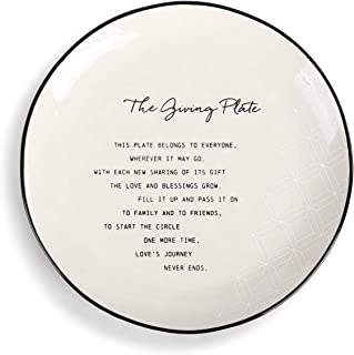 Pass Along Black and White 10 x 10 Ceramic Stoneware Decorative Giving Plate