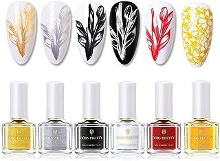 Estampacion Esmalte de uñas de Born Pretty de color brillante para impresión para usar con plantillas 6 ml