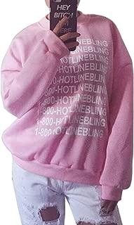 Letter Printed Women Pullover Jacket Outwear Sweatshirts