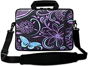 """AUPET 16 16.5"""" 17""""-17.3-Inch Water Resistant Neoprene Sleeve Notebook Neoprene Messenger Case Tote Bag with Outside Handle..."""