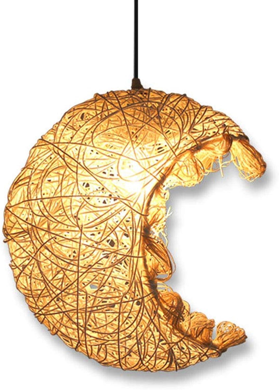 E27 Rattan Kunst Vogelkfig Pendelleuchten Mond Kronleuchter Wohnzimmer Schlafzimmer Esszimmer Studie Kinderzimmer Pendelleuchte