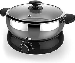 Grill électrique portable, Cuisinière à pot chaud, cuisine à soupe de cuisine, outil de cuisson en acier inoxydable, wok é...