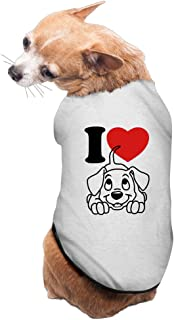 Vgd I Love Dogs Symbol Gray Cute Dog Clothes