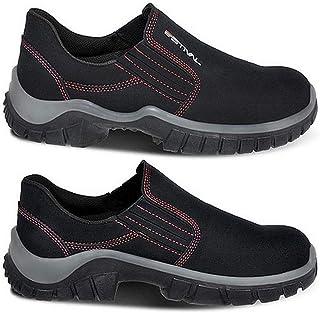 Sapato de Segurança Estival em Microfibra Preto/Vermelho n° 39 - WO10021S2