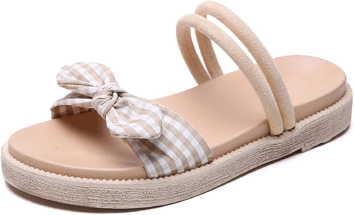 Women Beach Slippers Platform shoes Woman Bowknot Style Slip On Sandals Female Slides Ladi,
