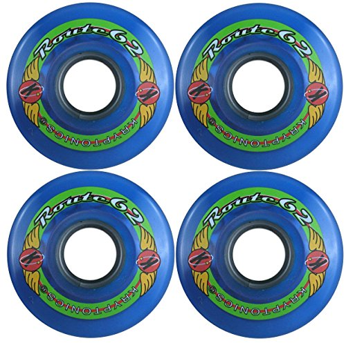 KRYPTONICS Route 62MM 78A Blue Longboard Cruiser Skateboard Wheels