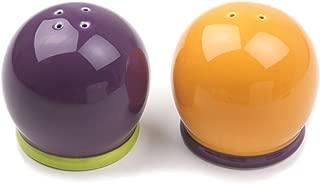 Omniware 1108545 Hemisphere Salt and Pepper Set, Purple/Orange