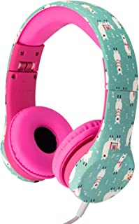 Snug Play+ Kids Headphones Volume Limiting and Audio Sharing Port (Llamas)