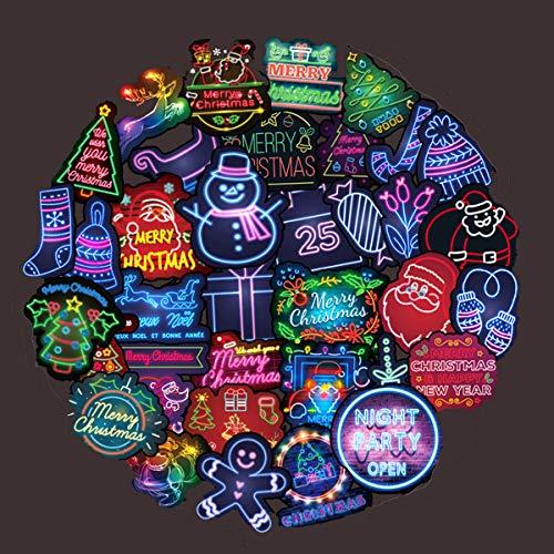 Aufkleber für Laptop/Auto, Skateboard, Motorrad, Fahrrad, Gepäck, Gitarre, Fahrrad, Fahrrad, etc, 45 Stück Neon-Weihnachtsgeschenke