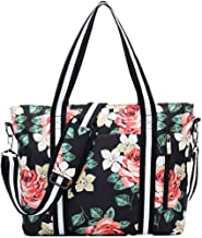 Womens Travel Tote Bag,Fits 15.6/17 Inch Laptop,Business Computer Shoulder Bag