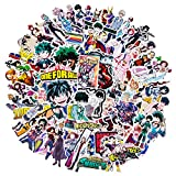My Hero Academia Stickers, 143 PCS Waterproof Vinyl Stickers for Laptop, Anime Stickers Skateboard Stickers for Teens Anime Lover Gift Car Snowboard Bicycle Luggage Pad MacBook Decals
