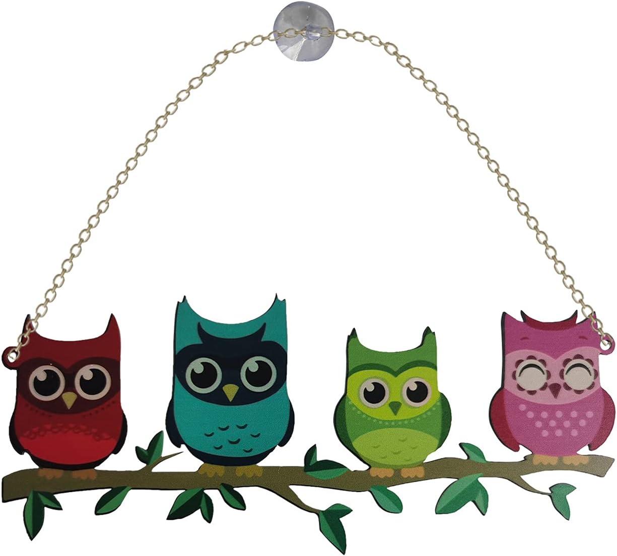 SuanlaTDS Super popular specialty store Multicolor Owl Ornaments Bird Animals Fake Translated Sculpture