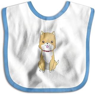 UBCATDESA Cute Dog Baby Bibs, Unisex Baby Soft Cotton Easily Clean Teething Bibs(Blue&Pink)