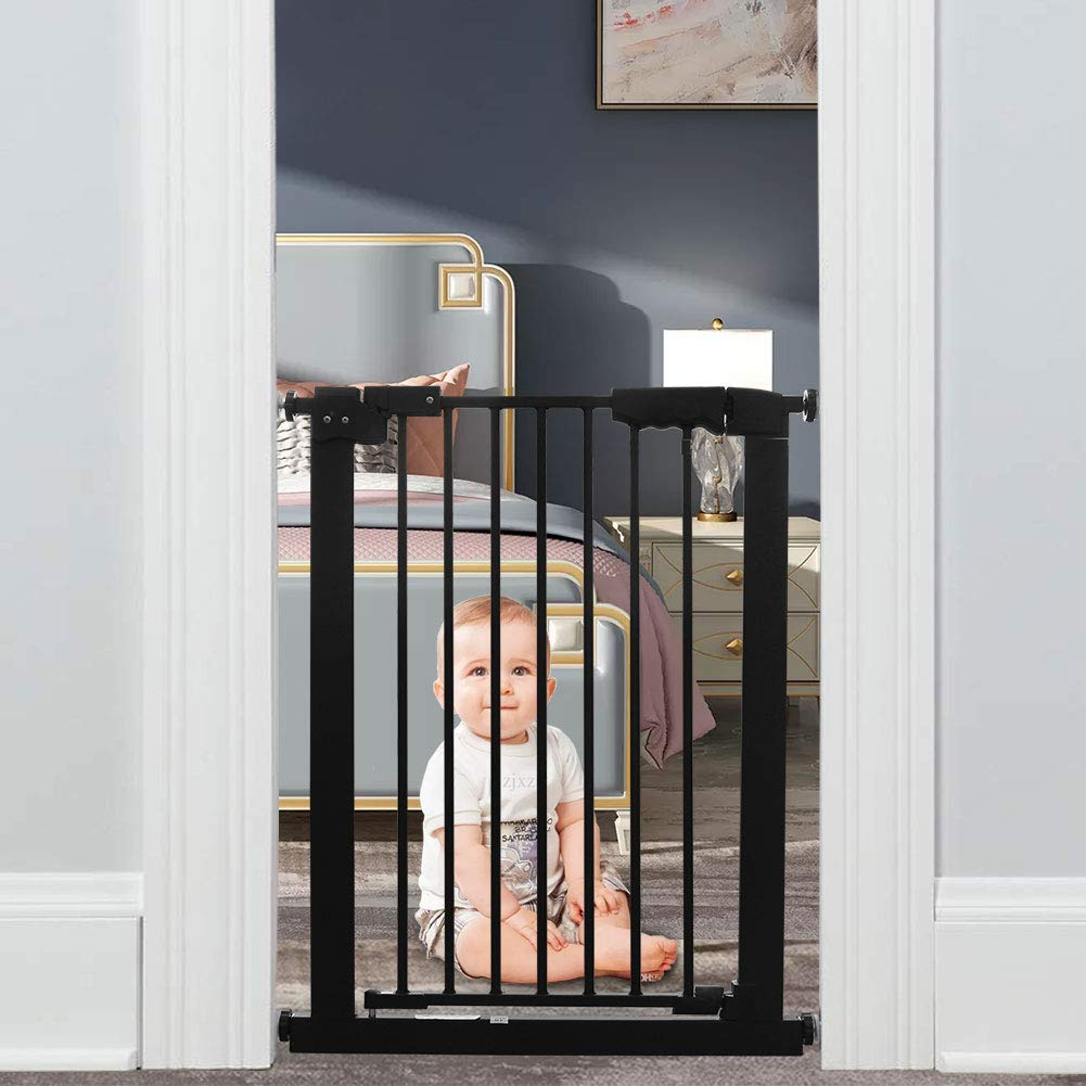 WAOWAO Narrow Walk Max 42% OFF Through Baby Gate White Auto Me Close Tension All stores are sold