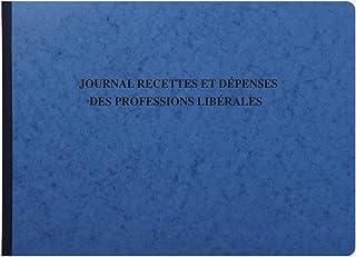 Exacompta 9620E - Piqûre Journal des Recettes Dépenses des Professions Libérales - 27 x 38 cm - 80 pages - Couleur Aléatoire