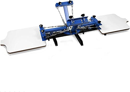 """new arrival SHZOND Screen Printing Press 4 Color 2 Station Silk Screen Printing Machine 21.7"""" x 17.7"""" Removable Pallet Screen Printing Machine Press for new arrival T-Shirt DIY new arrival Printing online"""