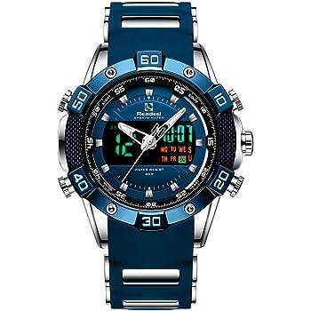 Youwen Watch Men's Sports Watch LED Digital and Quartz Analog Dual Movement Men's Watch Chronograph Military Watch Waterproof Men's Watch