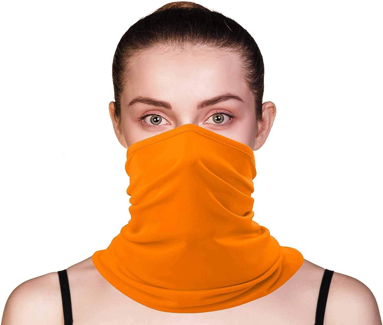 E K Neck Gaiter Fabric Mask Washable Face Scarf Bandana Headband Protective Shield