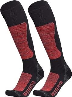 WEIERYA Ski Socks High Performance Winter Sports Skiing Snowboarding Socks for Men and Women, 2 Pairs