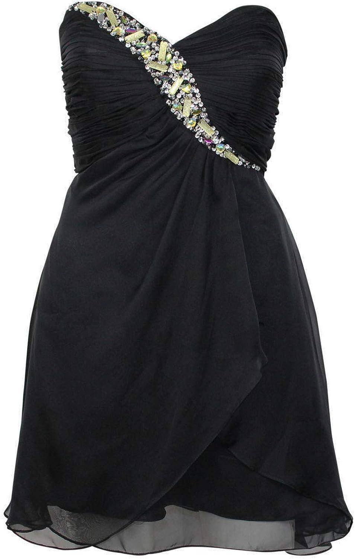 Cinderella Womens Ruched Sweetheart Neckline Dress Black 4, 8