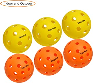 EasyTime Outdoor and Indoor Pickleball Balls, Specifically Optimized Design Pickleball Balls, Flight Trajectory is Stable,...