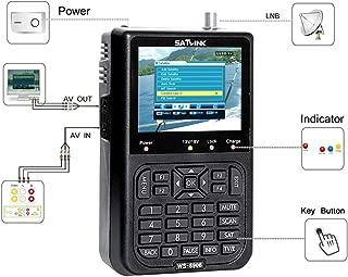 Satellite Signal Detector, KKmoon SATLINK WS6906 3.5in LCD Display Data Digital Satellite Signal Finder Meter