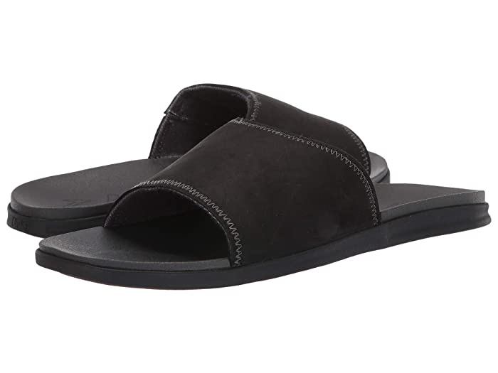 Alania Slide Black/Dark Wood